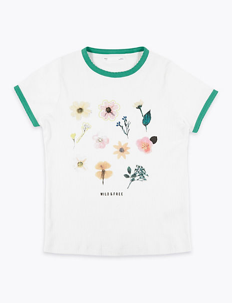 Cotton Floral T-Shirt (6-16 Years)