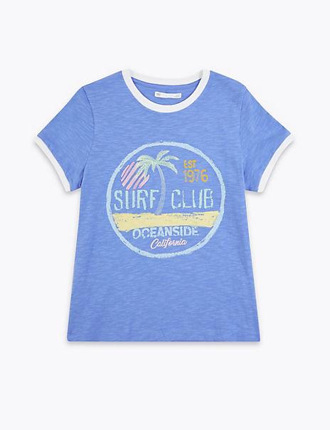 Cotton Surf Club Slogan T-Shirt (6-16 Years)