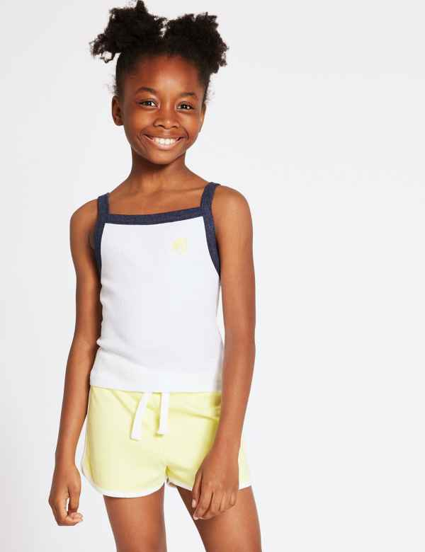 00afe8b3cd5c18 Pure Cotton Embroidered Vest Top (3-16 Years)