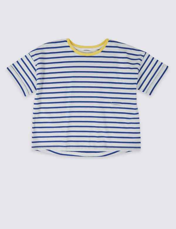 bddb98e2adc4 Easy Dressing Striped T-Shirt (1-16 Years)
