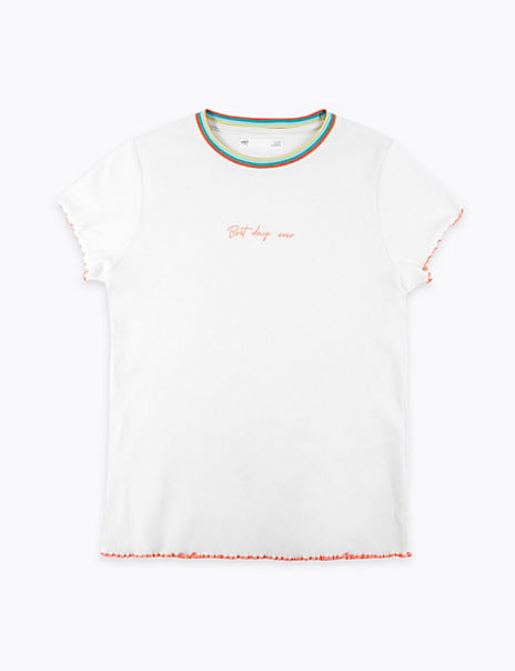 Cotton Rich Ribbed T-Shirt (6-16 Years)