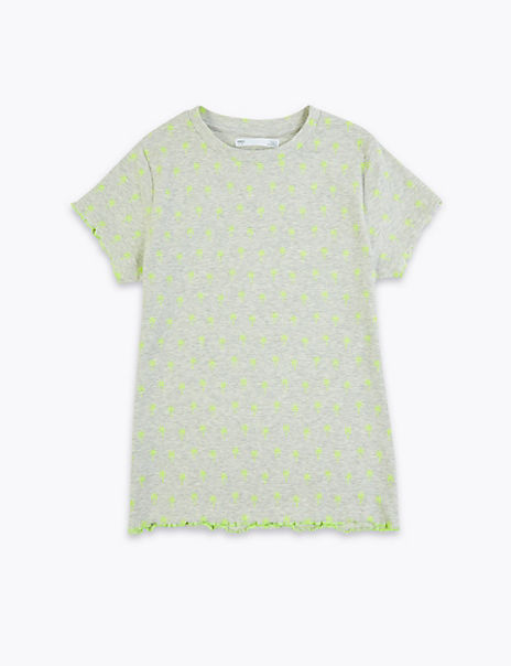Cotton Rich Palm Print T-Shirt (6-16 Years)