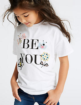 Pure Cotton Be You Top (3-16 Years)