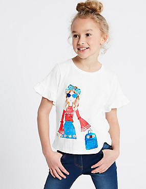 Pure Cotton Printed Top (3-16 Years)