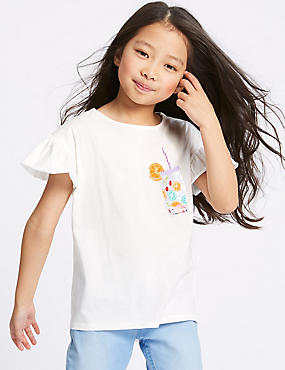 Pure Cotton Sequin Top (3-16 Years)