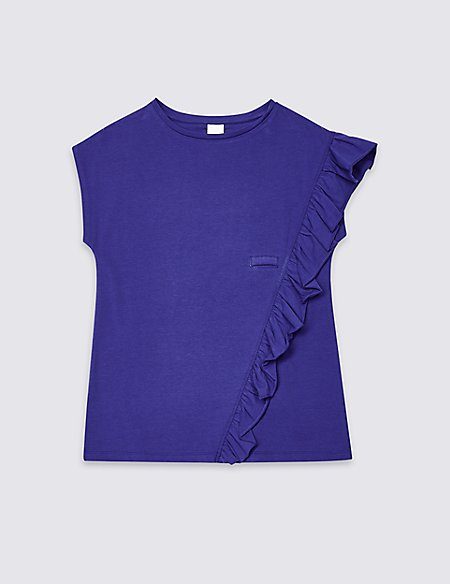 Easy Dressing Frill T-shirt (3-16 Years)