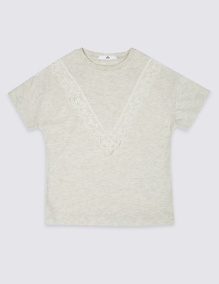 Lace Detail Top (3-16 Years)