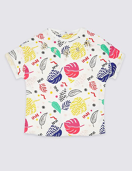 Pure Cotton Graphic T-Shirt (3-16 Years)
