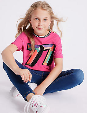 Pure Cotton T-Shirt with StayNEW™ (3-16 Years)