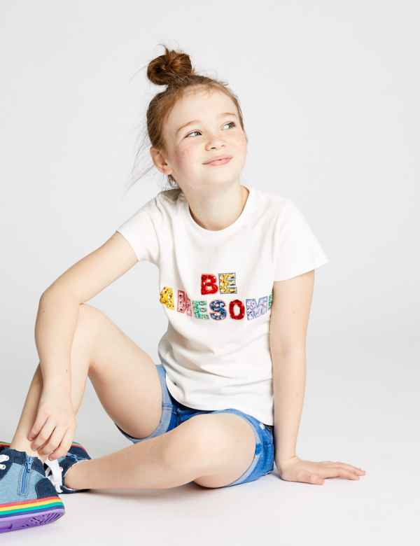 90b606f5b57 Pure Cotton Be Awesome T-Shirt (3-16 Years)