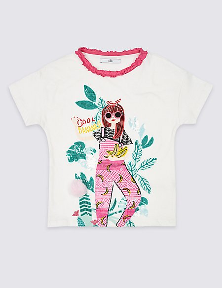 Pure Cotton Girl T-Shirt (3-16 Years)