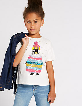 Pure Cotton Penguin Top (3-16 Years)