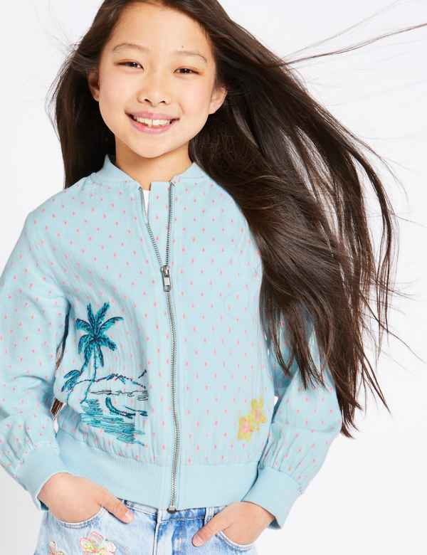 273d404b Tropical Bomber Jacket (3-16 Years)