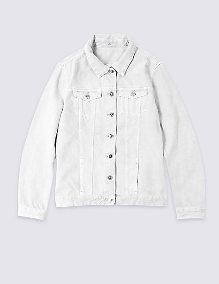 Pure Cotton Denim Jacket (3-16 Years)