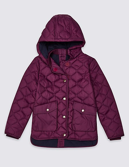Easy Dressing Quilted Coat (3-16 Years)