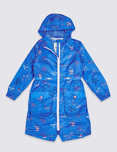 Mermaid Print Raincoat (3-16 Years)