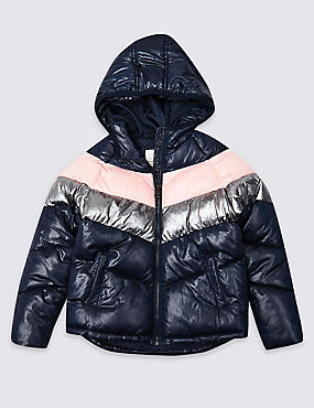 Colour Block Padded Jacket (3-16 Years)