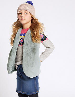 Faux Fur Gilet (3-16 Years)