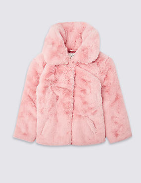 Faux Fur Coat (3-16 Years)