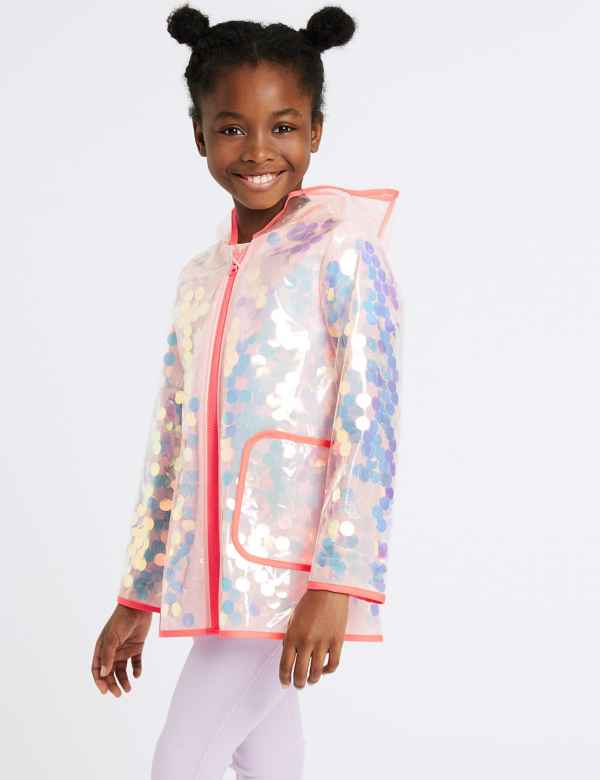 9c9ffa24f Hooded Sequin Raincoat (3-16 Years)
