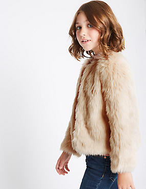 Faux Fur Coat (3-14 Years)
