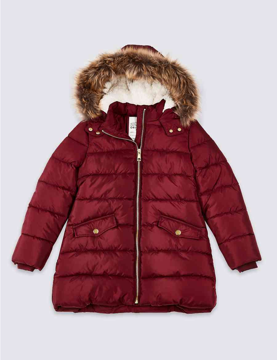 9dbde999b6ab Long Padded Coat with Stormwear™ (3-16 Years)
