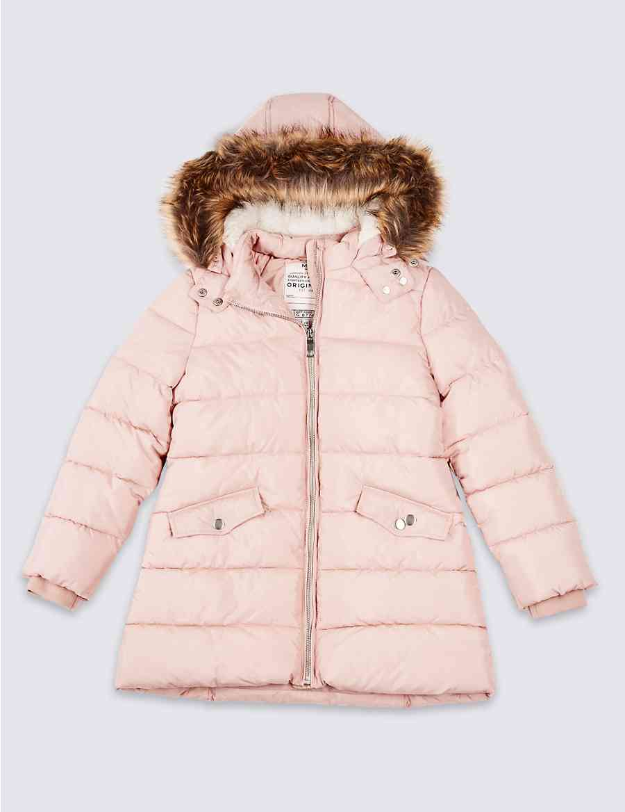 2a32c2ece1a4 Long Padded Coat with Stormwear™ (3-16 Years)