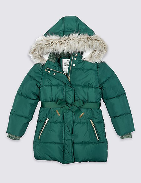Longline Padded Coat (3-16 Years)