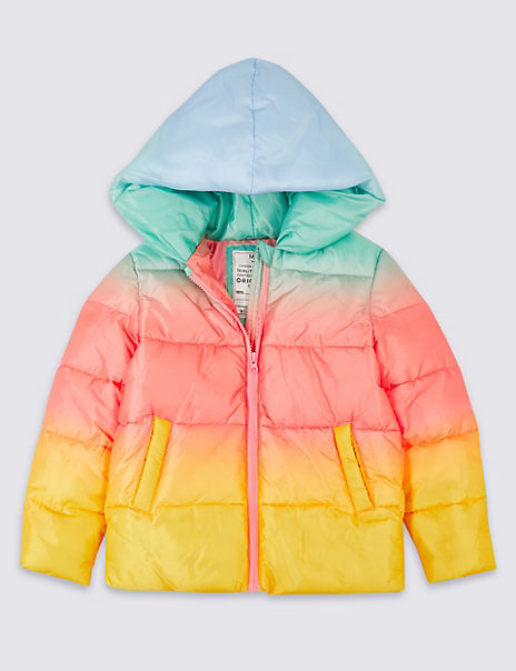 Ombre Padded Coat (3-16 Years)