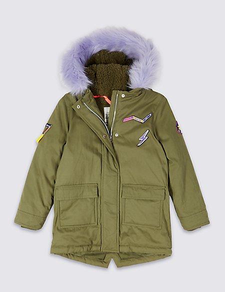 Cotton Blend Parka Coat (3-10 Years)
