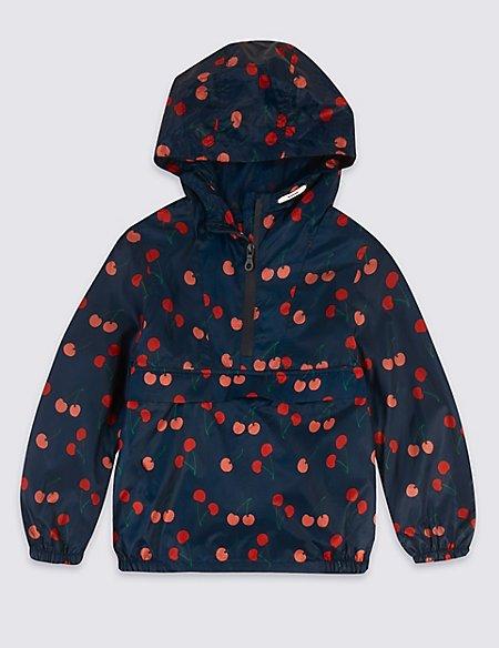 Cherry Print Coat (3-16 Years)