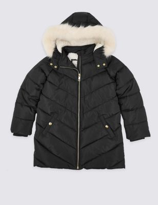 Stormwear™ Padded Hooded Coat (3 16 Years) by Marks & Spencer