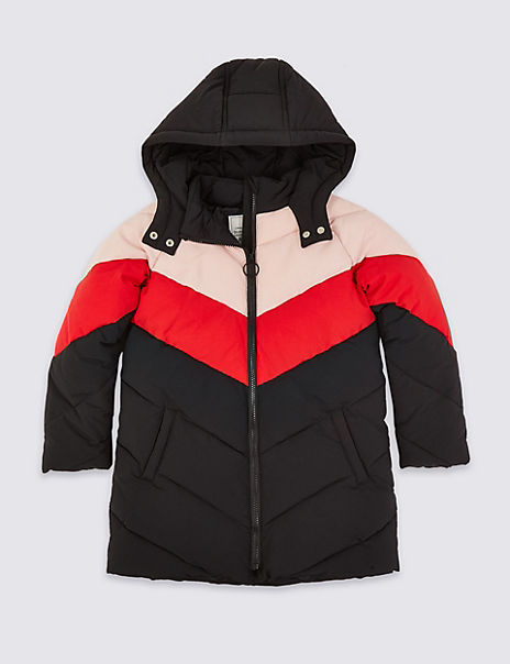 Stormwear™ Padded Colour Block Hooded Coat (3-16 Years)