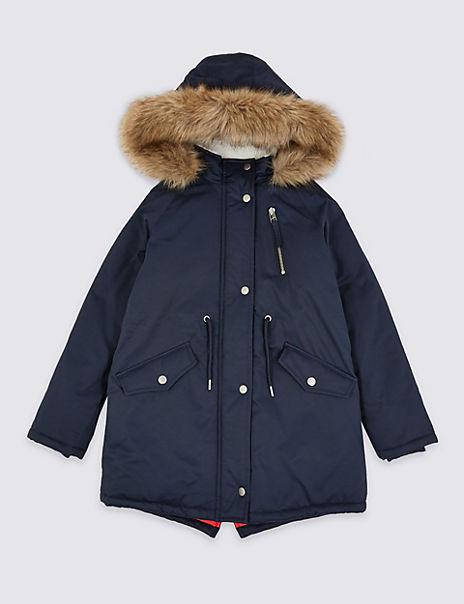 Stormwear™ Hooded Faux Fur Trim Parka (3-16 Years)