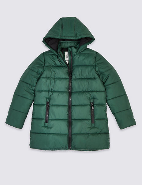 Hooded Mid-Weight Padded Coat (3-16 Years)