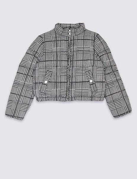 Checked Puffa Coat (3-16 Years)
