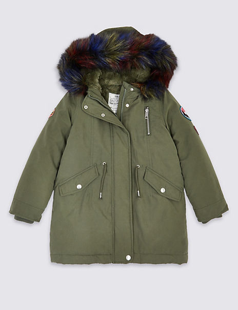Faux Fur Hooded Parka (3-16 Years)