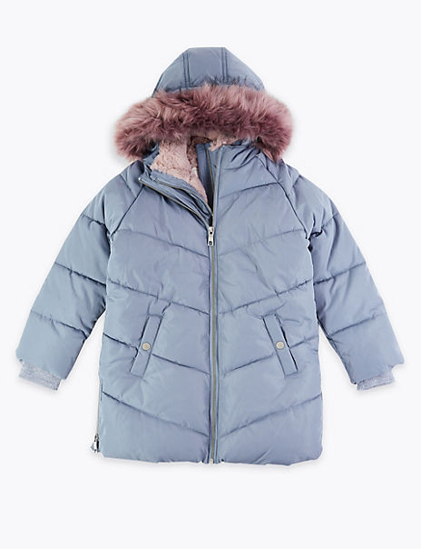 Faux Fur Lined Padded Coat (3-16 Years)