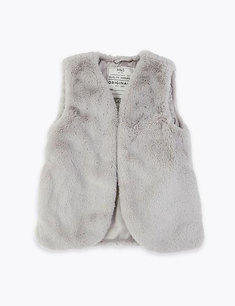 Faux Fur Gilet (3-16 Years)