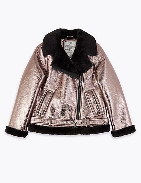 Metallic Biker Jacket (3-16 Years)