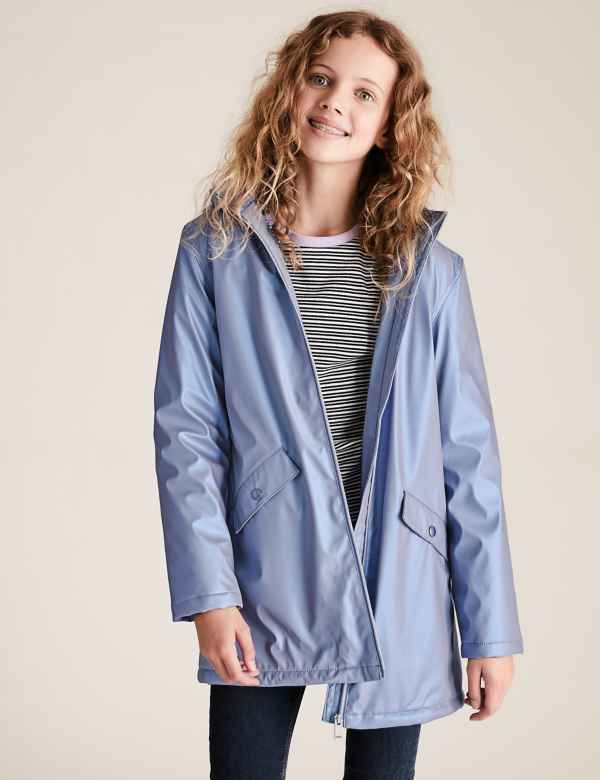 clp60452951: Stormwear™ Metallic Hooded Fisherman Jacket (6-16 Yrs)
