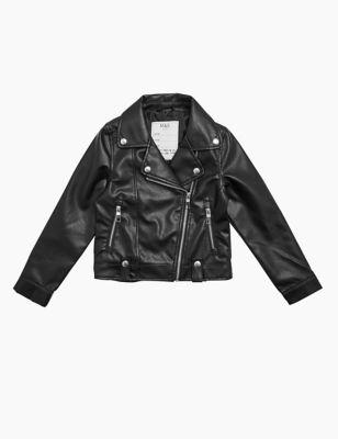 Faux Leather Biker Jacket (6-16 Yrs)