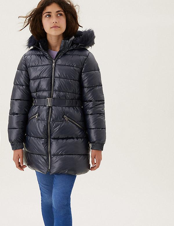 Stormwear™ Hooded Metallic Padded Jacket (2-16 Yrs)