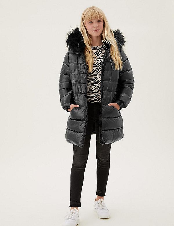 Stormwear™ Metallic Longline Padded Coat (2-16 Yrs)