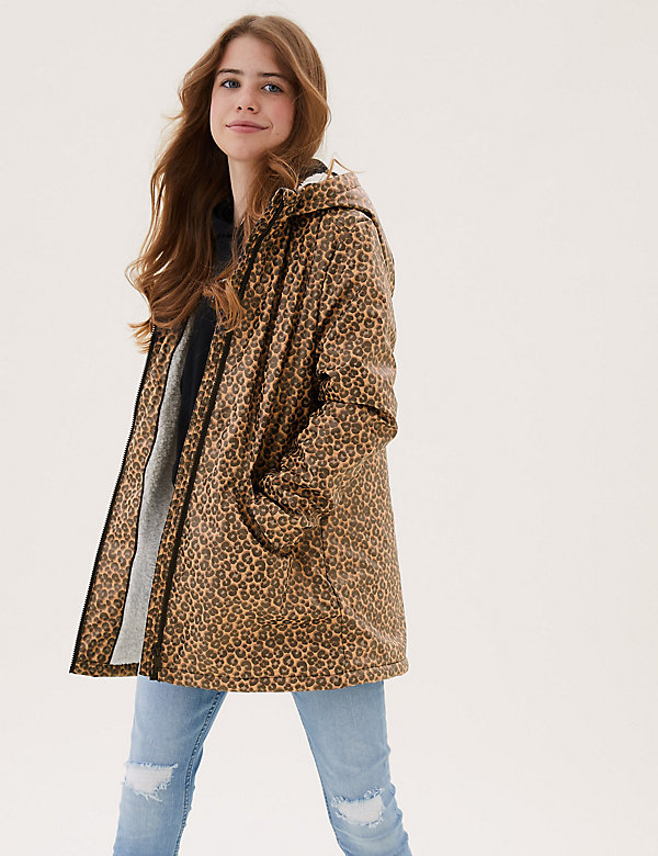 Stormwear™ Leopard Print Fisherman Coat (6-16 Yrs)