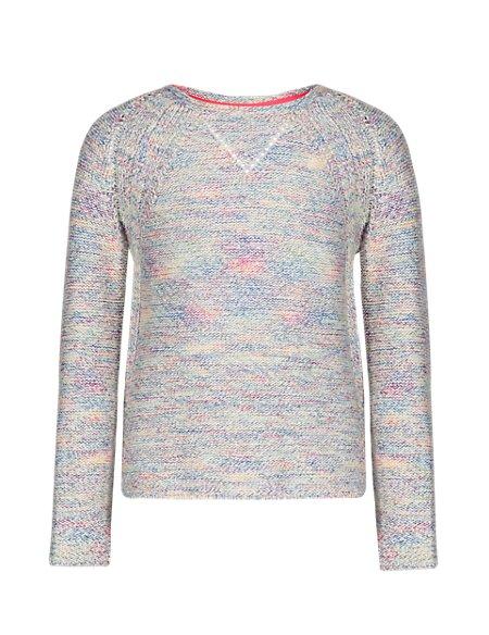 Rainbow Open Knit Jumper (5-14 Years)