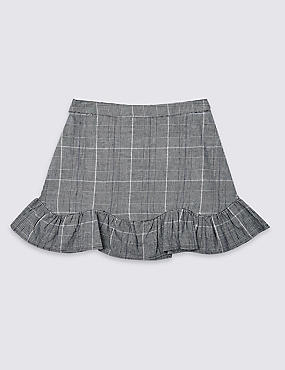 Pure Cotton Checked Skirt (3-16 Years)