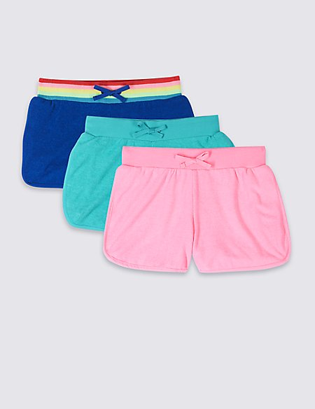3 Pack Cotton Blend Shorts (3-16 Years)