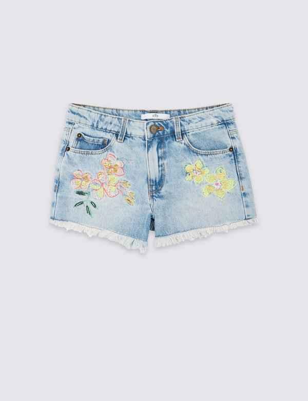Tropical Denim Shorts (3-16 Years) f4ec8e0fc13a