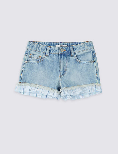 Pure Cotton Striped Frill Shorts (3-16 Years)